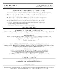 Banking Manager Resume Credit Union Branch Bank Sample