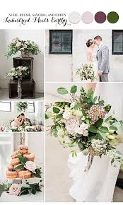 Blush And Sangria Wedding Palette Idea Board
