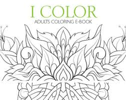 Adult Coloring E Book 28 Designs Flowers Mandalas Butterflies Therapy For
