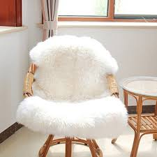 GEZICHTA Super Soft Faux Fur Fake Sheepskin Sofa Couch Casper Vanity Chair  Cover Rug Washable Carpet Mat Non Slip Fluffy Rug Mats(White) Vanity Chair Stool White Swivel Hickory Metal Bench Red Wning Rocker Recliner Eaging Bolero Grey Glider Sheepskin Faux Fur Cover Rug Seat Pad Area Rugs For Bedroom Sofa Floor Nursery Decor Ivory Deluxe Soft Carpets Plain Shaggy Ivory 2ft X 3ft Buy High Quality Covers Marvelous Recliners Luxury Waterproof Table Cloth Dressing Square Sets Side Fniture Argos Tables Mirror Cabinet Pier 1 Vanity Keutchedevcom Take Your Chair Slipcovers Up A Notch With Ruched Lace Surprising Light Blue Striped Accent Without Hillsdale Clover Stool In Cherry Super Fake Couch Casper