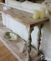 make this easy rustic farmhouse coffee table with balustrades or