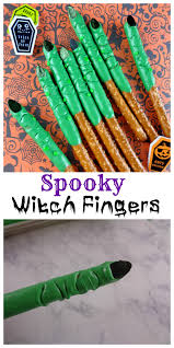 Halloween Pretzel Sticks by Spooky Witch Fingers Are A Perfect Halloween Party Treat