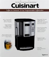 How To Set Timer On Cuisinart Coffee Maker Demand Cup Programmable Coffeemaker Ct