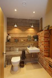 Rustic Barn Bathroom Lights by Barn Conversion Rustic Powder Room Hampshire By Hampshire