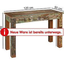 wohnling konsolentisch kalkutta 120 x 50 x 84 cm massivholz schreibtisch schlafzimmer wohnzimmer konsole
