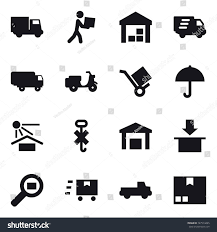100 Pickup Truck Warehouse 16 Vector Icon Set Courier Stock Vector Royalty Free