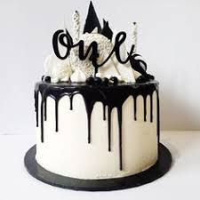 Black and white Monochrome Birthday Party frosting for cookies butter