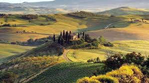 Nature Landscape Italy Field Hill Tuscany HD Wallpaper Desktop Background