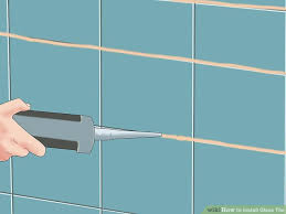 Score And Snap Glass Tile Cutter by How To Install Glass Tile With Pictures Wikihow