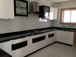 Ply Laminate Modular Kitchen With Base As Plywood And Surface Of Sunmica Hot Pressed