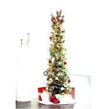 Slim Pencil Tree Trees White Sale Black Artificial Slender Christmas Pre Lit 8 Ft Flocked Pine