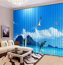 wapel custom 3d gardinen wohnzimmer blauer himmel und meer