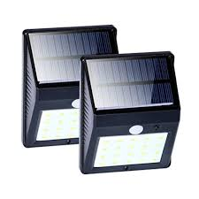 snagshout 2 pack 20 led solar wall lights with motion sensor