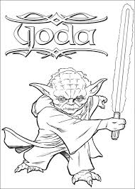 Star Wars Coloring Pages Master Yoda