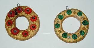 petites couronnes décorations de noël en pâte à sel noel tête à