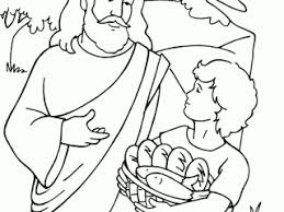 Jesus Feeds 5000 Coloring Pages Page