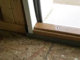 Door threshold adjustment Wood s Home Maintenance Service