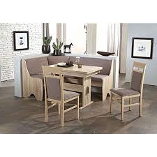 scouts eckbankgruppe rimini sonoma eiche dekor grau braun set 4 teilig truheneckbank ausziehbarer tisch stühle buche massiv küche esszimmer