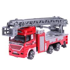 High Simulation Mini Fire Engine Model Alloy Vehicles Truck Toy ...