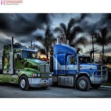 100 Diamond Truck 5d DIY Truck Painting Scenic Sports Car Full Square Cross