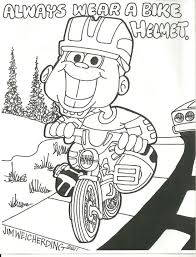 Bike Safety Coloring Pages 6 Documents
