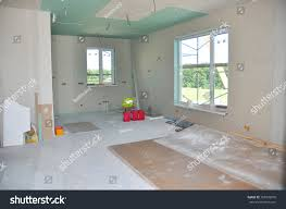 Ceiling Construction Details With Electricity Wire Building Gypsum Plaster Walls Drywall And