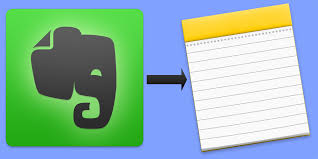 How to transfer notes from Evernote in a standard application