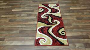 Red And Beige Area Rug Arlington Collection Waves Abstract Design Pcs Set Faux Cowhide Carpet Living Room Plush Rugs For Black White Rooms To With Modern