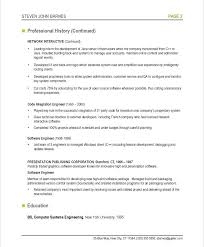 Developer Resume Examples Systems Engineer Sample Software Professional Page Web 2016