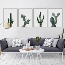 nordic minimalist cactus poster modern print home decor