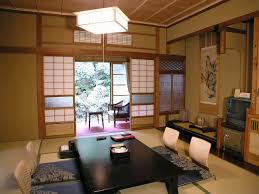 Dining RoomDazzling Japanese Room Design With Rectangle Black Table And White Sliding