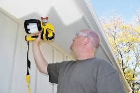 how to spray paint a ceiling using an airless sprayer then back