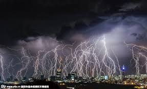 Dramatic Lightning Storm Over Johannesburg