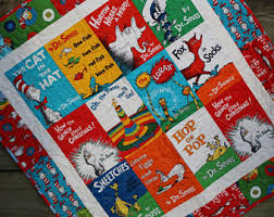 Dr Seuss Baby Bedding by Dr Seuss Quilt Etsy