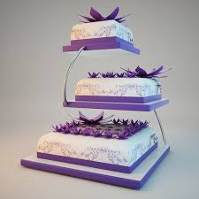 Back To Article → The Passionate Purple Wedding Cakes