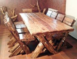 casa padrino esszimmer set rustikal tisch 6 stühle eiche massivholz echtholz möbel massiv burgmöbel