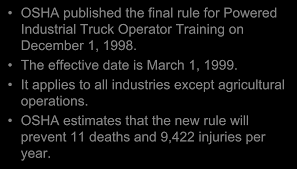 Powered Industrial Trucks Operator Training Forklift Safety For Ramps Slopes And Inclines Prolift Egiona Otic Its The Pits Employer Guide To Liability In Workplace The Osha Standard Powered Industrial Truck Traing Oshas Top 10 Most Cited Vlations Fiscal Year 2015 December All Categories Stac Card Drumbeat Ignored As Often Heard 1910178 Truck Checklist Blog Lift Capacity Calculator Regional Notice Osha Powered Industrial Cerfication Unique 8 Best Forklift Onsite Traing Only 89 Per Person