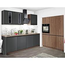küche lacklaminat schwarz matt eiche oregon nachbildung 245 150 cm