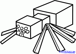 Minecraft Spider Coloring Pages Wolves Printable