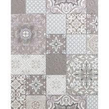 küchen bad tapete edem 87001br13 vinyltapete leicht strukturiert mit kachelmuster und metallischen akzenten beige taupe weiß silber 5 33 m2
