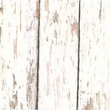 Off White Weathered Wood Wallpaper