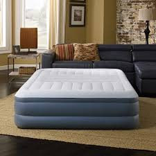 Aerobed Queen Raised Bed With Headboard by Simmons Beautyrest Trizone Lumbar Support Queen Size 18 Inch