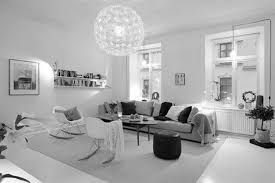black and white living room TjiHome