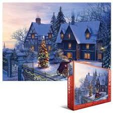 Home For The Holidays Snow Jigsaw Puzzle