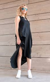 linen dress plus size dress maxi dress tank dress asymmetric