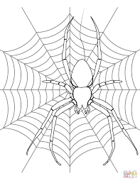 Click The Spider On Its Web Coloring Pages