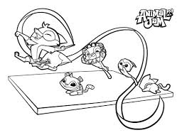 Animal Jam Coloring In Pages The Daily Explorer