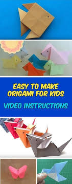 Easy Origami For Kids Animals Video Instructions