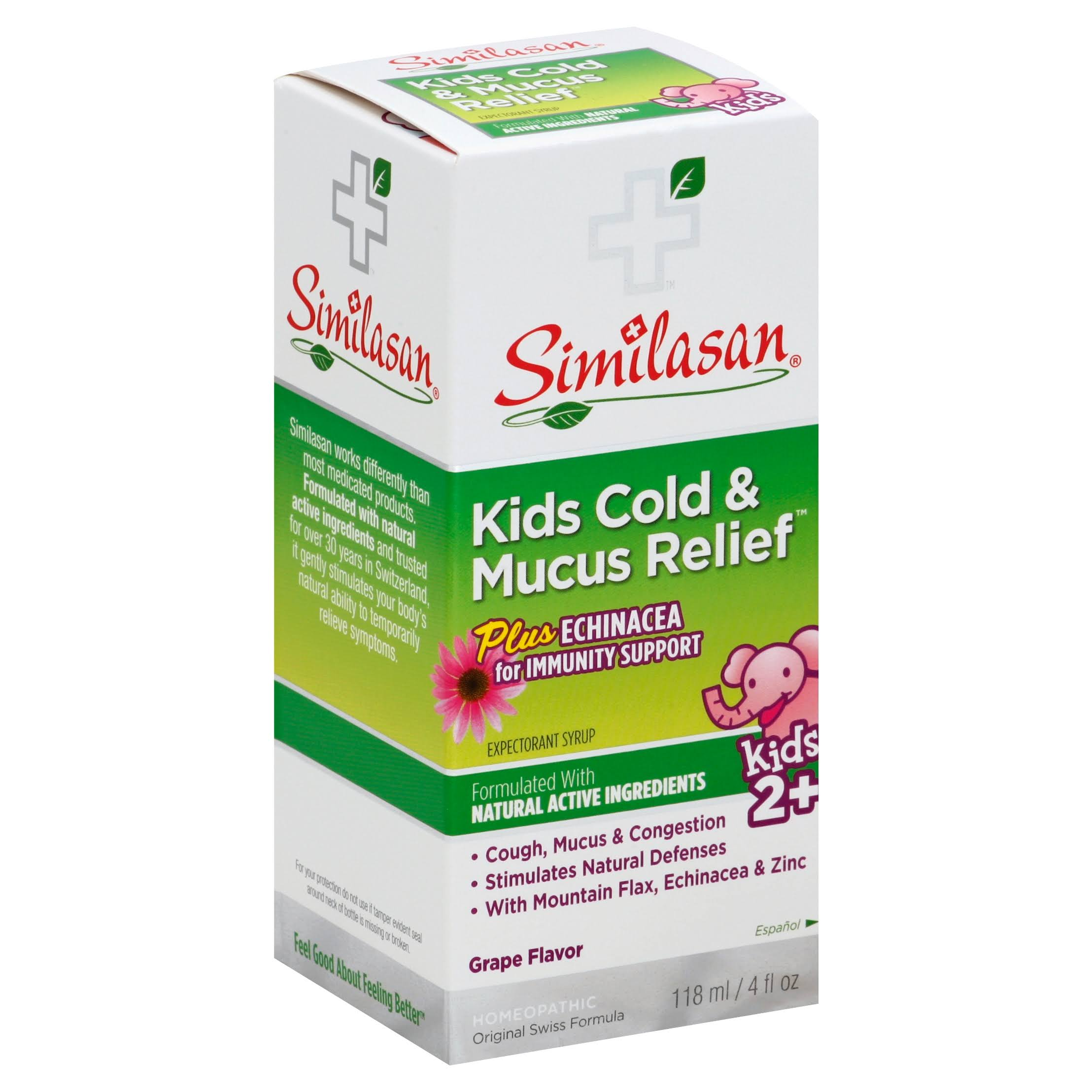 Similasan Kids Cold & Mucus Relief Plus Echinacea - 4oz