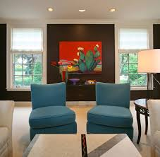 Brown And Teal Living Room by Sophisticated Living Room Urso Designs Inc